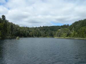 Lake Hanlon past the Karamea Bluffs (before the night with the gypsy guy)