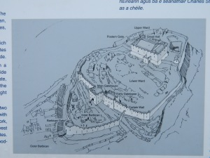 Drawing of Dunamase