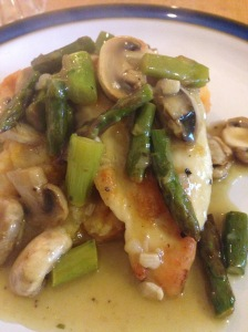 "Chicken ""Marsala"" with Mushrooms and Asparagus"